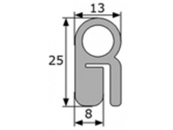 Perfil esponjoso contorno maletero Seat 124, vendida por metros