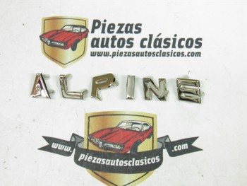 Kit letras  Anagrama  Alpine