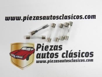 Kit 6 fusibles de vidrio 30mm.  1x8/10/15/20/25/30  Amperios
