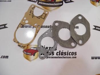 Juego solo juntas carburador Solex 32   Renault 4, 4L, 4S y 4 francés