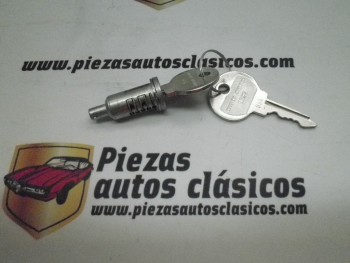 Cilindro de cerradura Renault 4,6,12 con 2 llaves