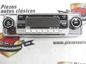 Radio CD RETRO CROMADA