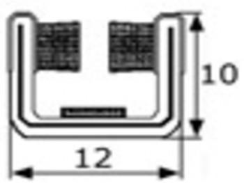 Guia de cristal articulada 12mm, vendida por metros