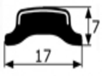 Junquillo cromado contorno luna Dodge dart y Renault 12, vendido por metros