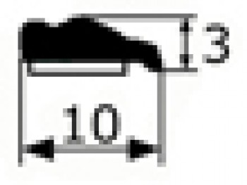 Moldura adhesiva cromo negra 10mm,vendida por metros