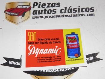 Pegatina Seat LIQUIDO DE FRENOS DYNAMIC