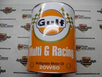 Bidón 10L Aceite lubricante Gulf Multi G Racing 20W50