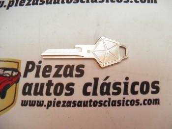 Llave en blanco para hacer copia pentagonal  Dodge Dart y 3700 GT
