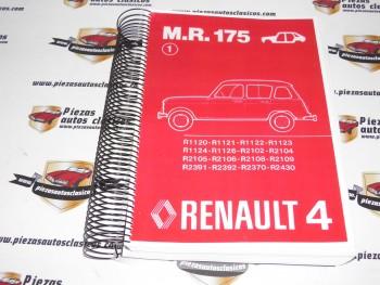 Manual de reparación 175  Renault 4   copia encuadernada