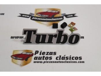 Anagrama Turbo Rejilla Delantera Renault 5 Alpine Turbo y Copa Turbo